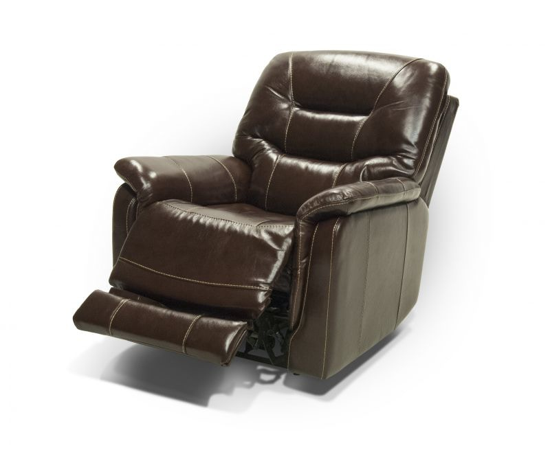 John Leather Power Headrest U0026 Lumbar Recliner