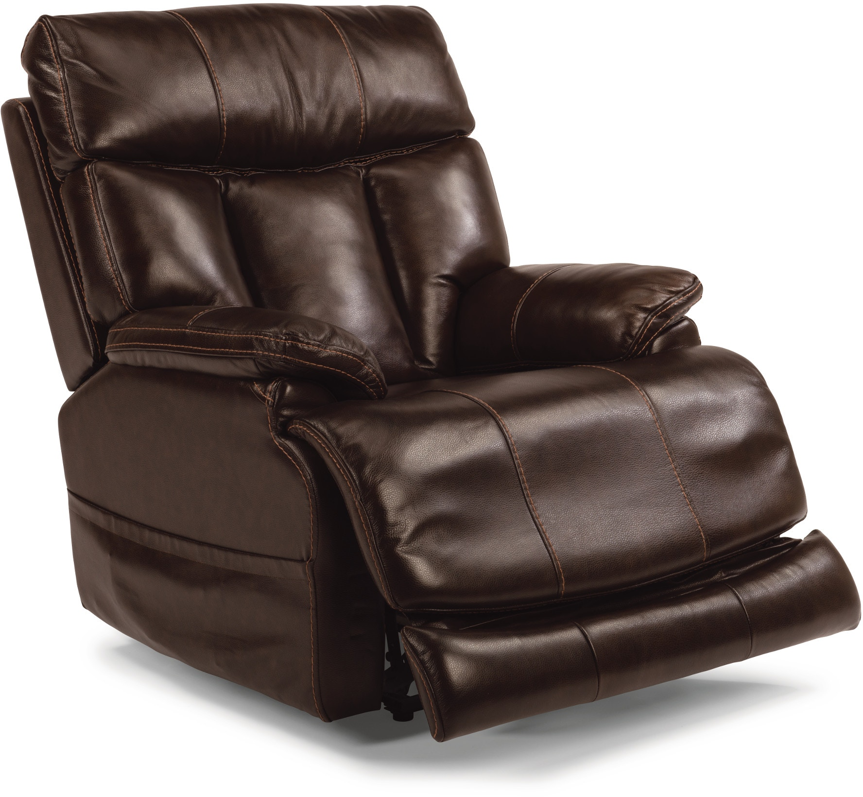 Flexsteel Living Room Lumbar Power Headrest and Lumbar Leather