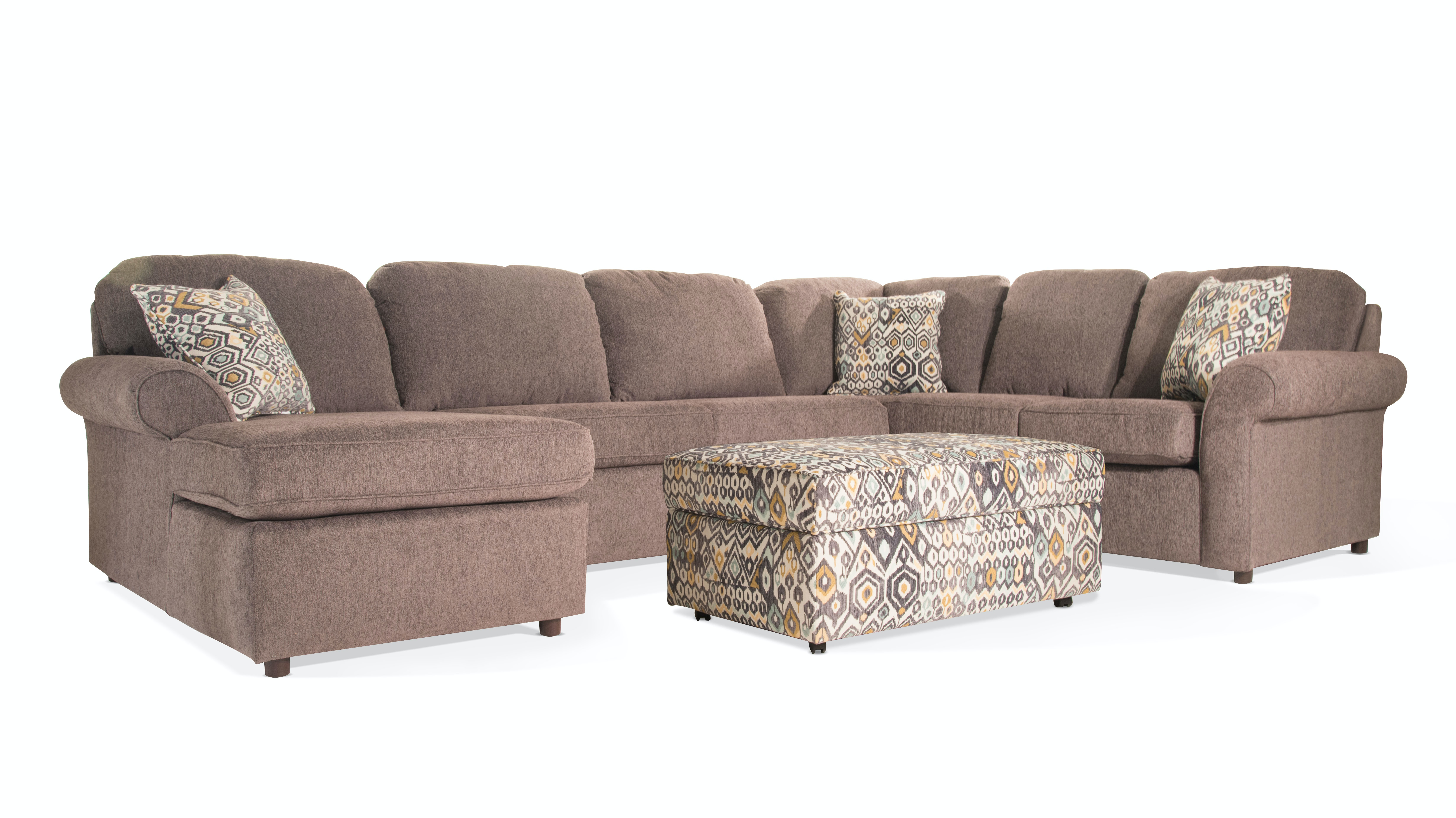 England Living Room Marcia Sectional with Ottoman 55MARCIA Bob
