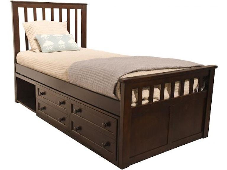 Ne Kids Marley Twin Captains Storage Bed Mattress Free