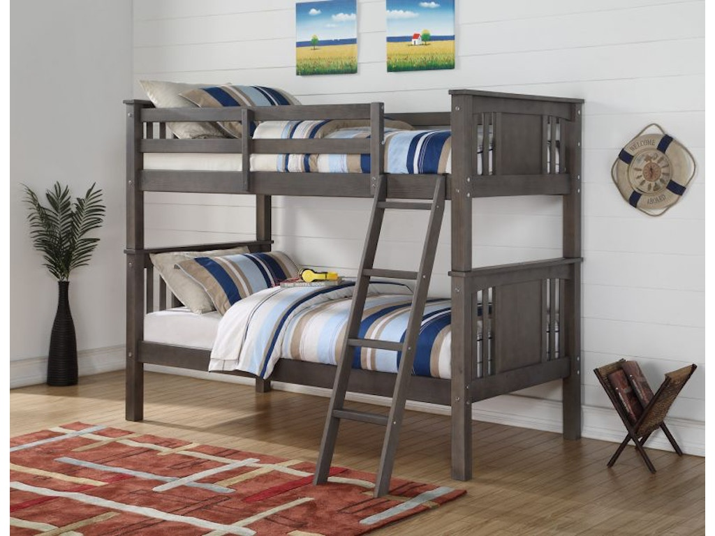 Discovery Furniture Mason Twin Over Bunk Bed Mattresses Free Masontwinbunk