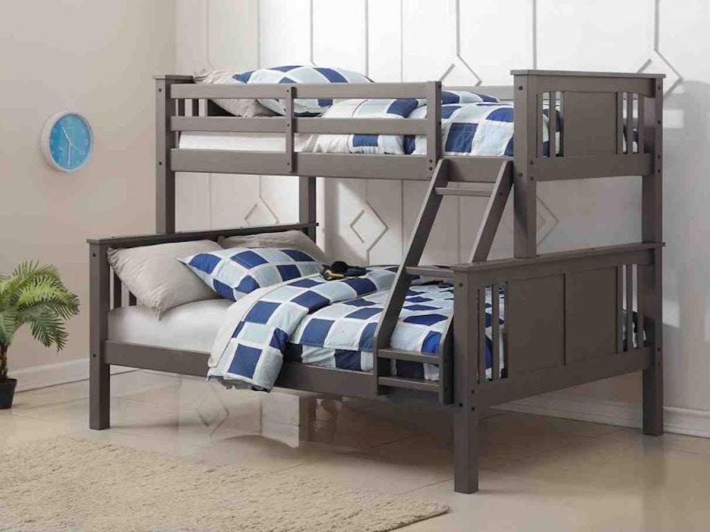 Discovery Furniture Mason Twin Over Full Bunkbed Mattresses Free Masontwinfullbunk