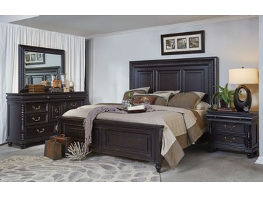 Meritage King Bed, Dresser, Mirror and Nightstand