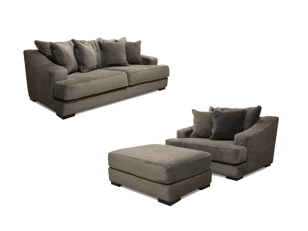 Monterrey Sofa, Chair And Ottoman, 55u0026#34 TV FREE