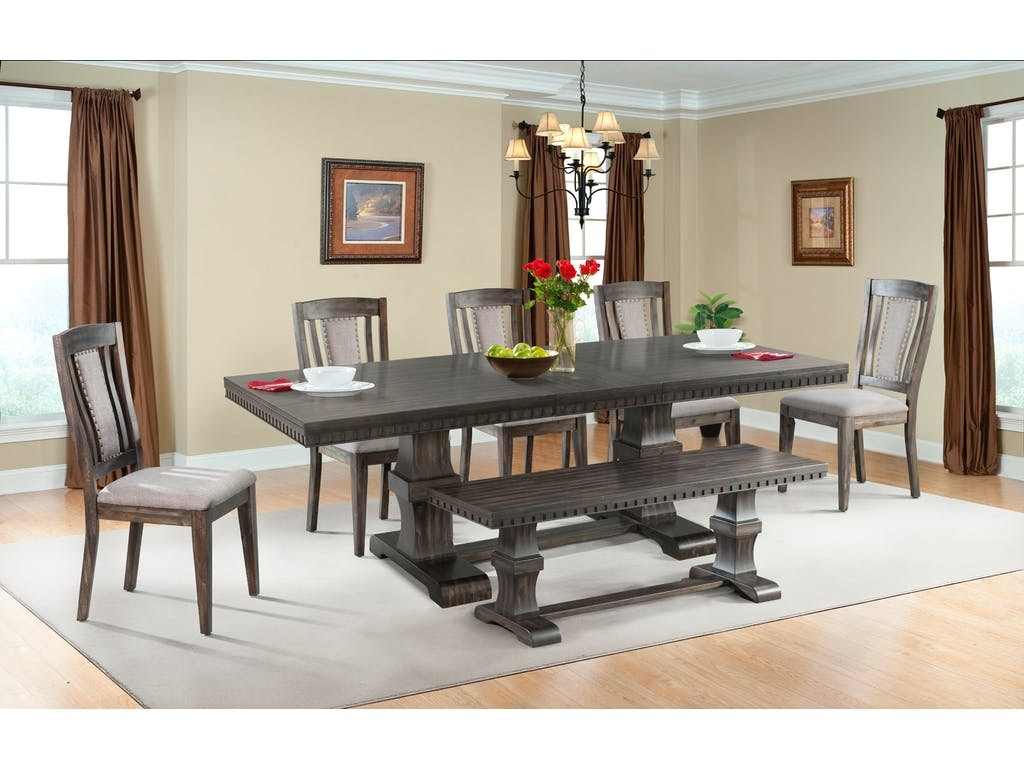 Morrison Dining Table, 4 Chairs, Bench,Server FREE
