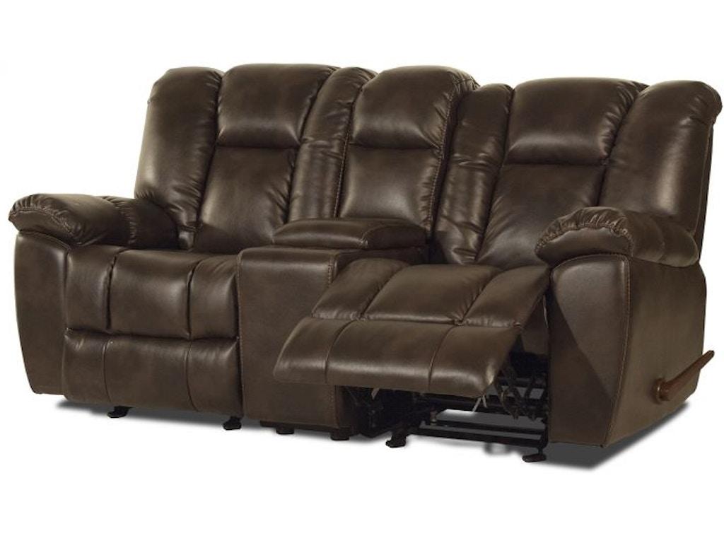 Caselli Fine Leather Twist Glider Reclining Living Room