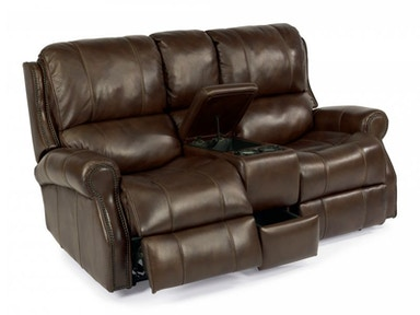 Miles Brown Leather Power Reclining Loveseat
