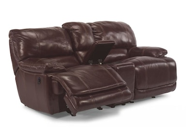 Ross Power Reclining Leather Loveseat