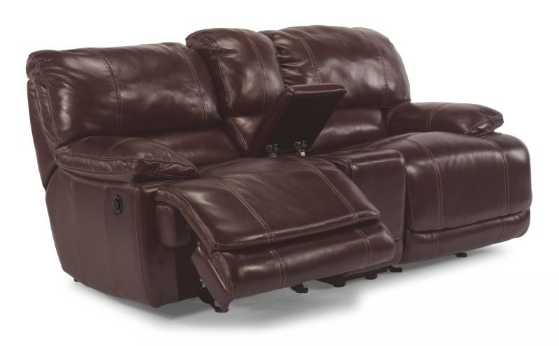 Ross Power Reclining Leather Loveseat MOT-LOVE-ROSS  sc 1 st  Bob Mills Furniture & Flexsteel Living Room Ross Power Reclining Leather Sofa and Loveseat islam-shia.org