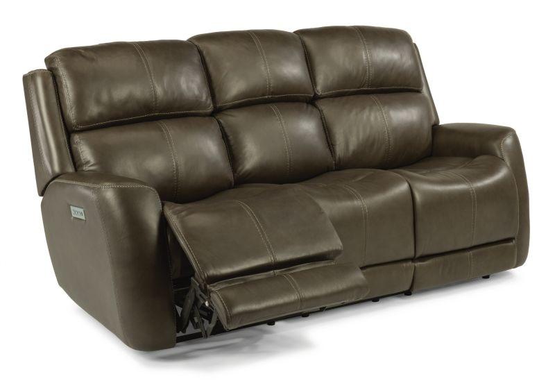 Merveilleux Flexsteel Allen Power Headrest And Lumbar Reclining Sofa MOT SOFA ALLEN
