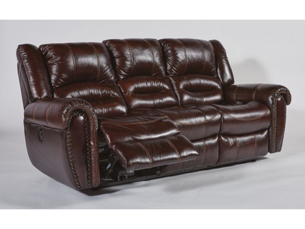 Flexsteel Living Room Bricktown Power Reclining Sofa