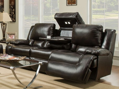 Excalibur Leather Power Headrest Reclining Sofa