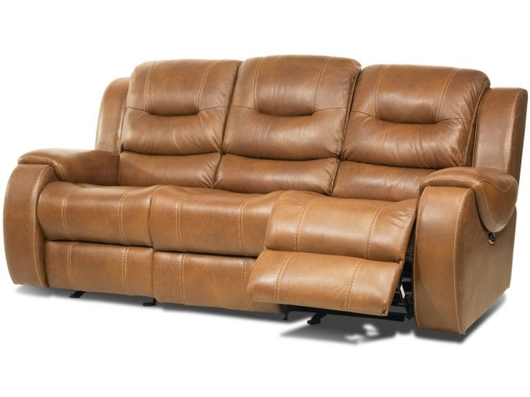 Corinthian Gary Leather Gliding Headrest Reclining Sofa Mot Garyph