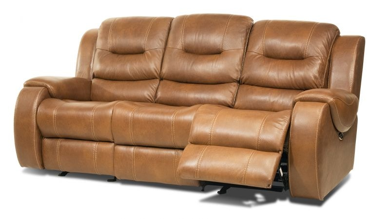 Gary Leather Gliding Power Headrest Reclining Sofa