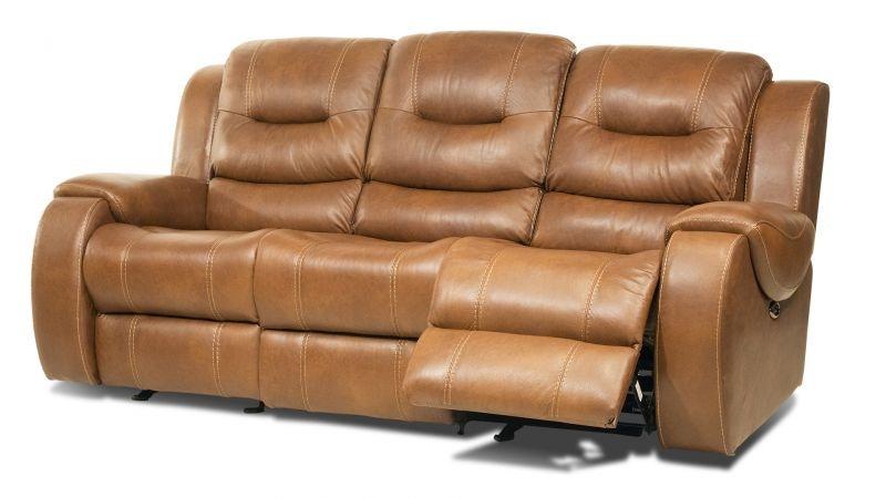 Gary Leather Gliding Power Headrest Reclining Sofa