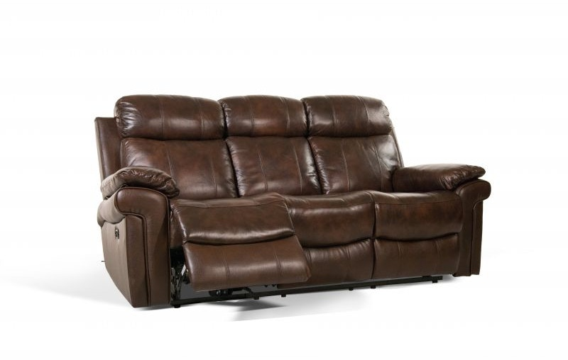 Leather Italia Living Room Joplin Power Sofa and Loveseat Recliner