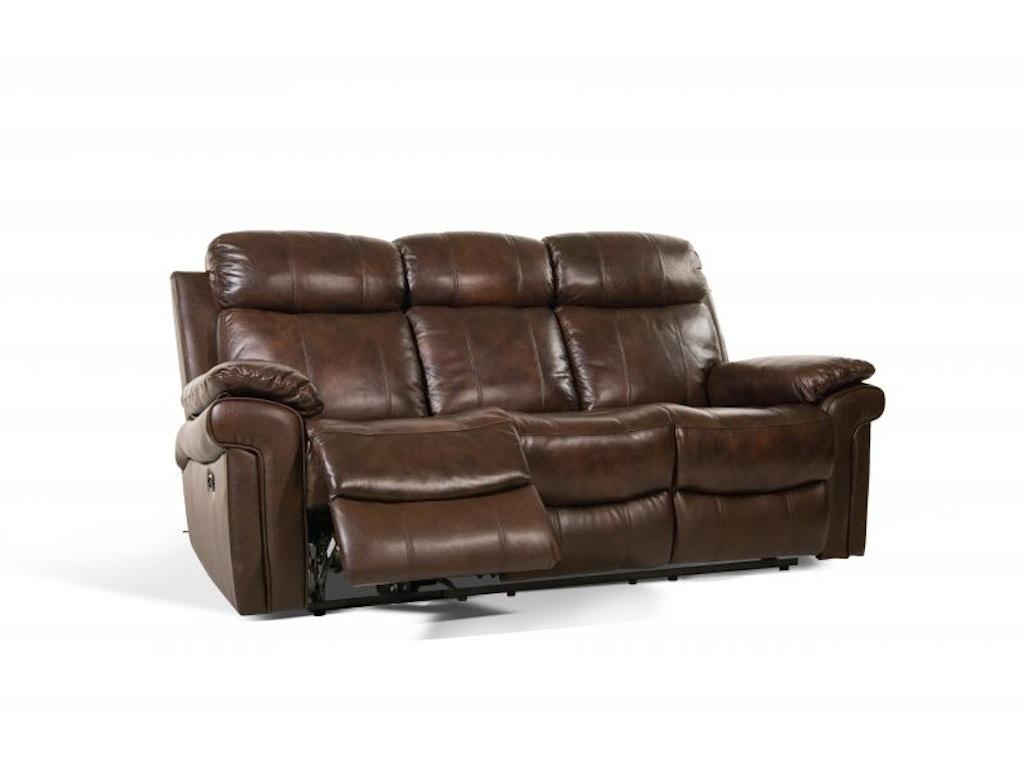 Leather Italia Living Room Joplin Power Sofa And Loveseat Recliner - Recliner leather sofa