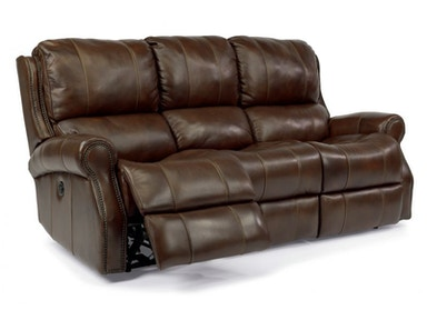 Miles Brown Leather Power Reclining Sofa