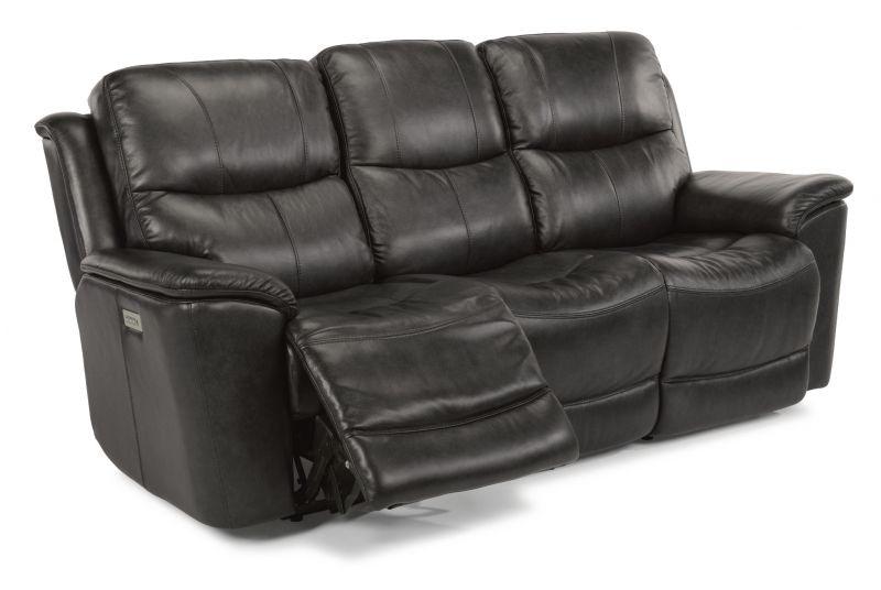 Flexsteel Ryan Leather Power Headrest And Lumbar Sofa MOT SOFA RYAN