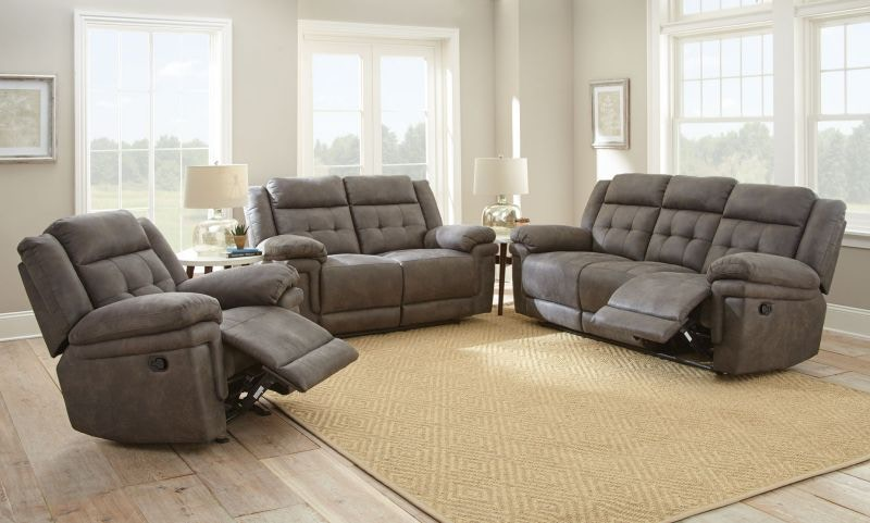 Steve Silver Ian Grey Reclining Sofa Loveseat Recliner Free