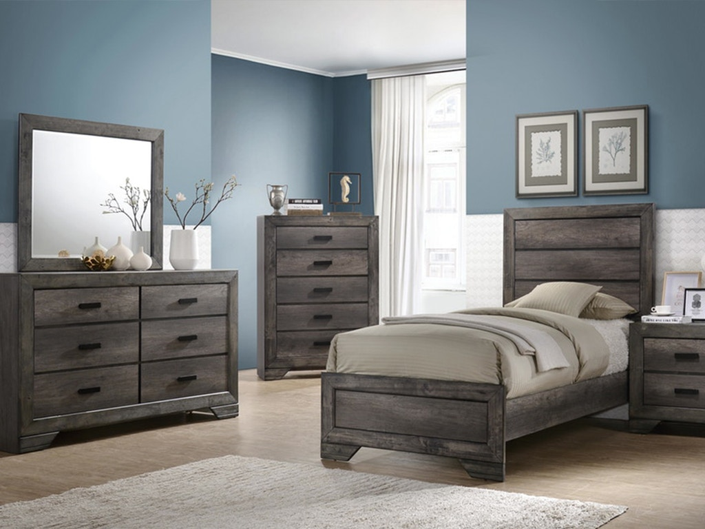 ELEMENTS INTERNATIONAL GROUP Youth Bedroom Nathan Twin Bedroom Set,  Mattress FREE!