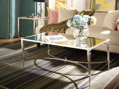 Mallory Mirrored Top Cocktail Table