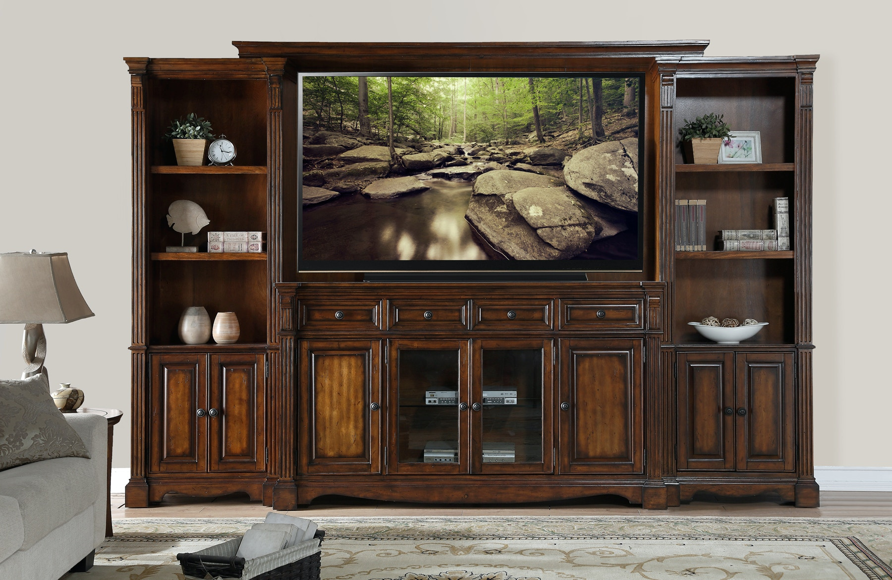 living room furniture wall units legends furniture living room ortiz wall unit 55 quot hdtv free 22692