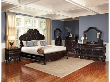 Palisades King Bed, Dresser, Mirror and Nightstand