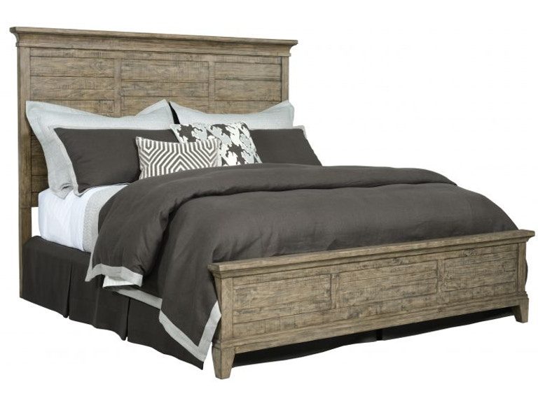 Kincaid Furniture Plank Road Stone Queen Bed Plank50stone