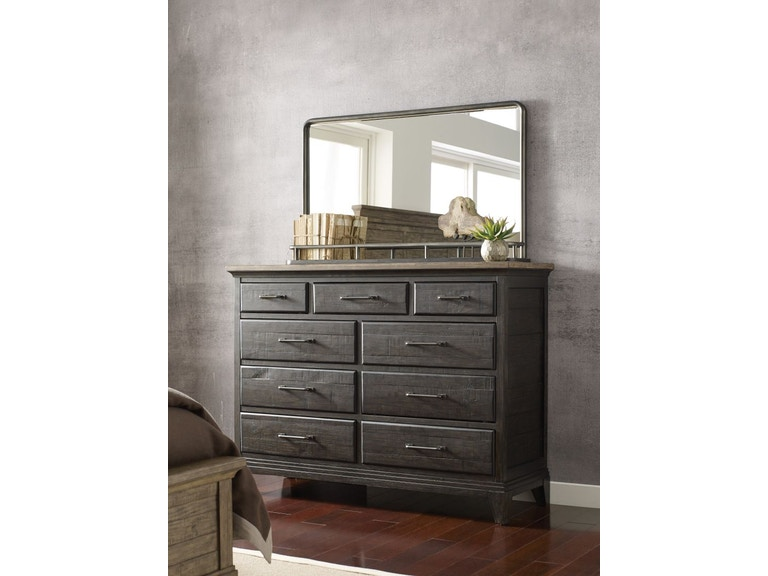 Kincaid Furniture Plank Road Charcoal Dresser And Mirror