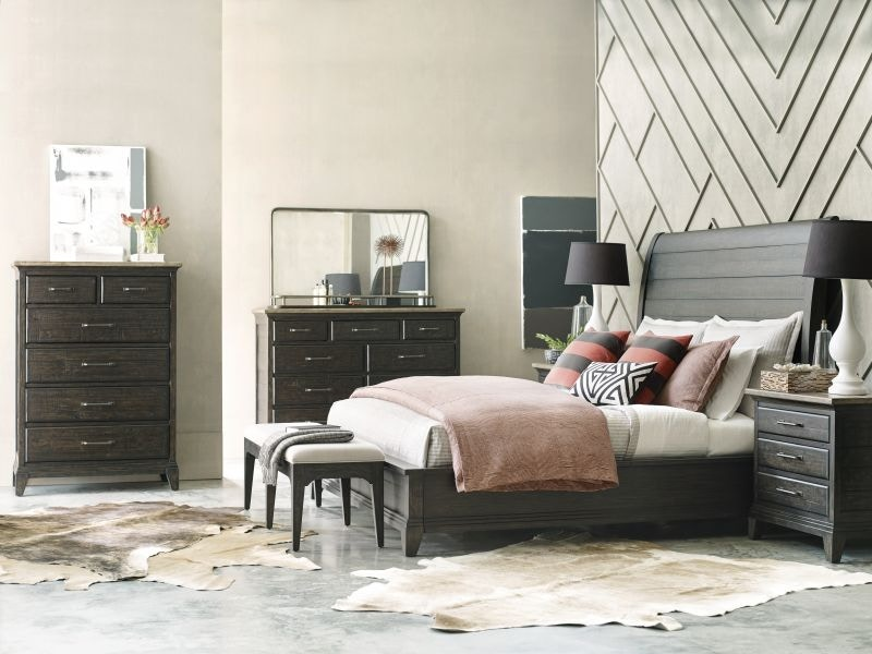 Attractive Plank Road Charcoal King Bedroom Set