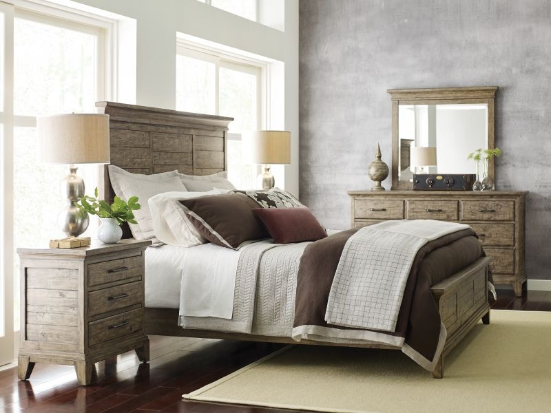 Kincaid Furniture Plank Road Stone Queen Bed Set, Mattress FREE  PLANKQUEENSTONE