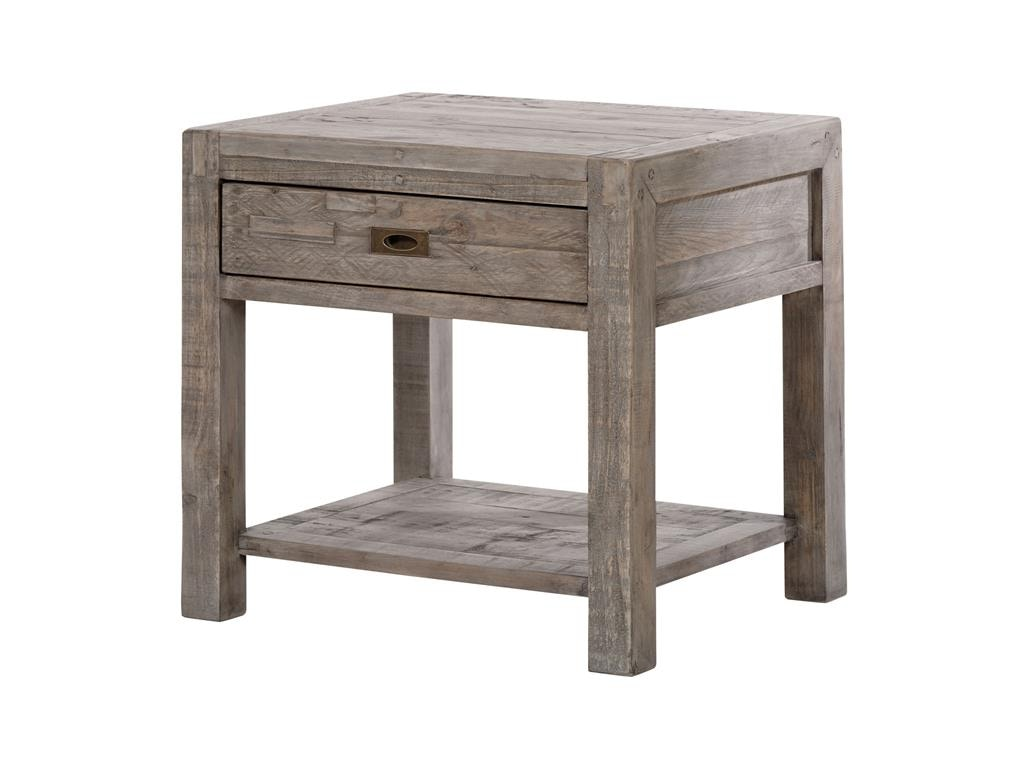 Four Hands Living Room Post And Rail Black Olive End Table