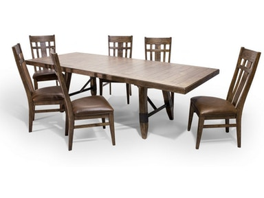 River Dining Table And Six Side Chairs