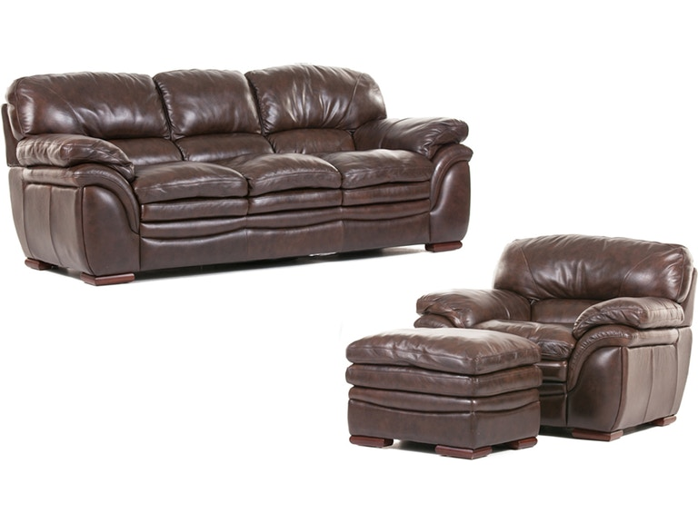 Santa Cruz Leather Sofa, Chair and Ottoman