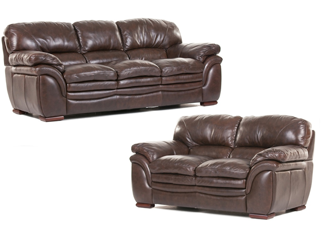 Futura Living Room Santa Cruz Leather Sofa And Loveseat