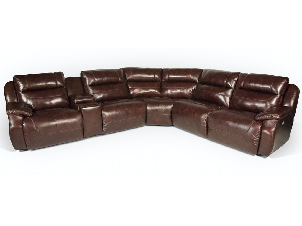 Southern Motion Star Leather Power Headrest  Reclining Sectional 55STAR. Southern Motion Living Room Star Leather Power Headrest  Reclining