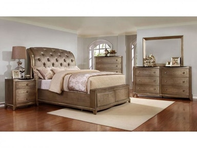 Stacy King Bed, Dresser, Mirror and Nightstand