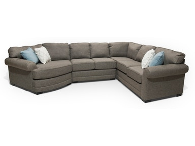 stella sectional with cuddler wedge - Leather Living Room Furniture