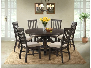 stone 60 inch round table and 4 chairs server free