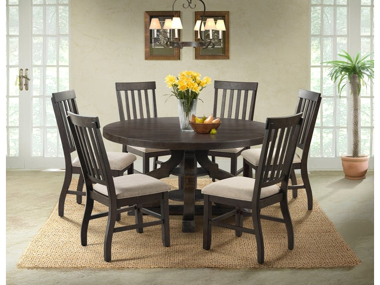 Dining Room Stone 60 Inch Round Table And 4 Chairs Server Free Stonernd Slat