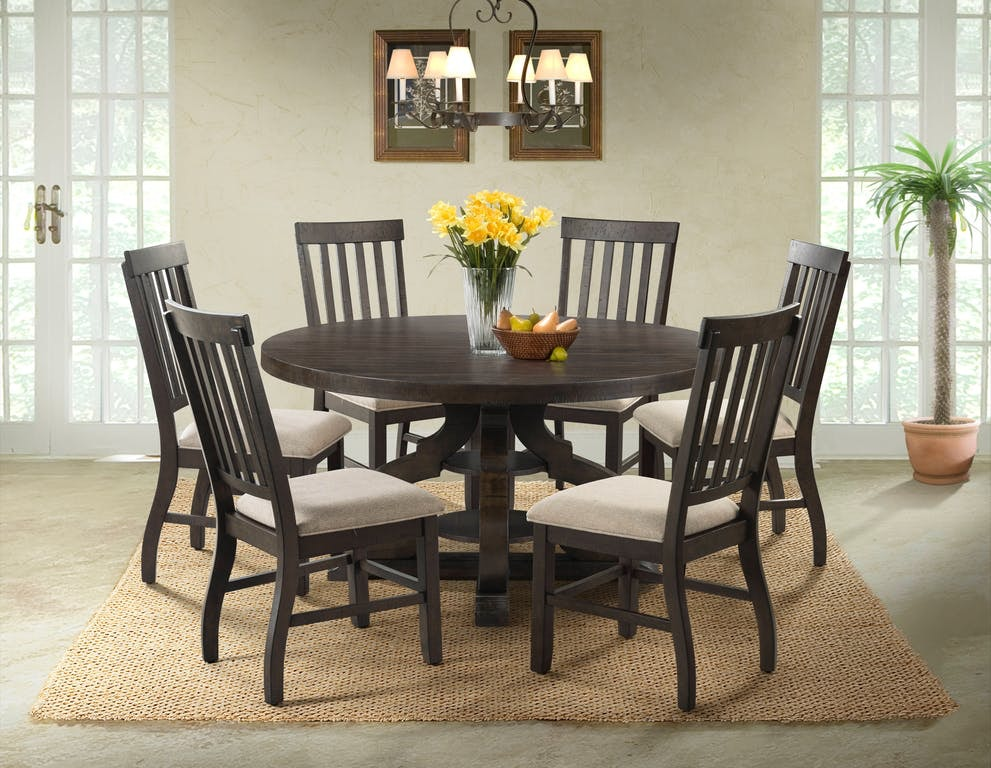 Etonnant Elements Stone 60 Inch Round Table And 4 Chairs,Server FREE STONERND/SLAT