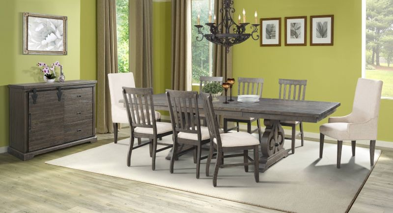 Elements Stone Dining Table 6 Chairs and Server FREE STONEDINE & Elements Dining Room Stone Dining Table 6 Chairs and Server FREE