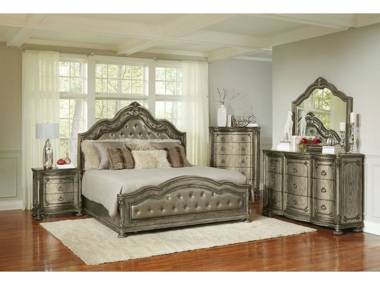 Avalon Swank King Bed, Dresser and Mirror