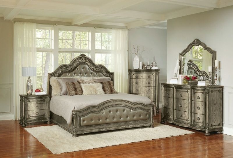 Swank King Bed, Dresser And Mirror