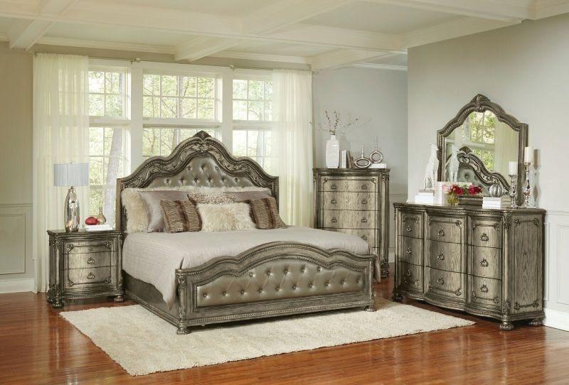 Wonderful Swank King Bed, Dresser And Mirror