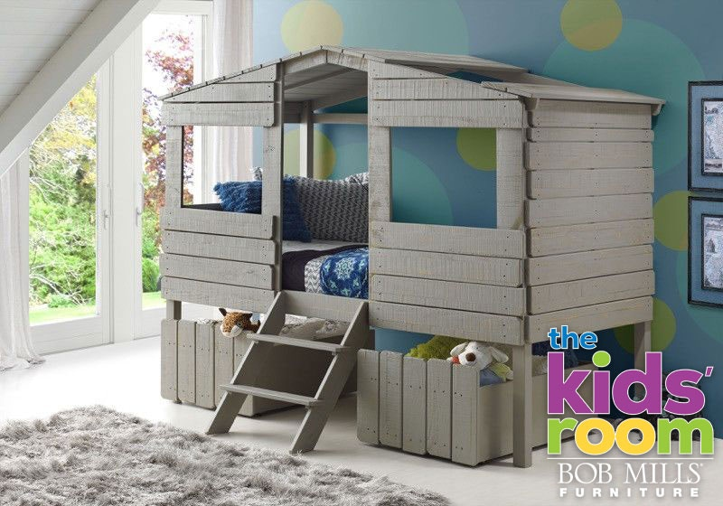 Discovery Furniture Timber Treehouse Loft Bed Mattress Free