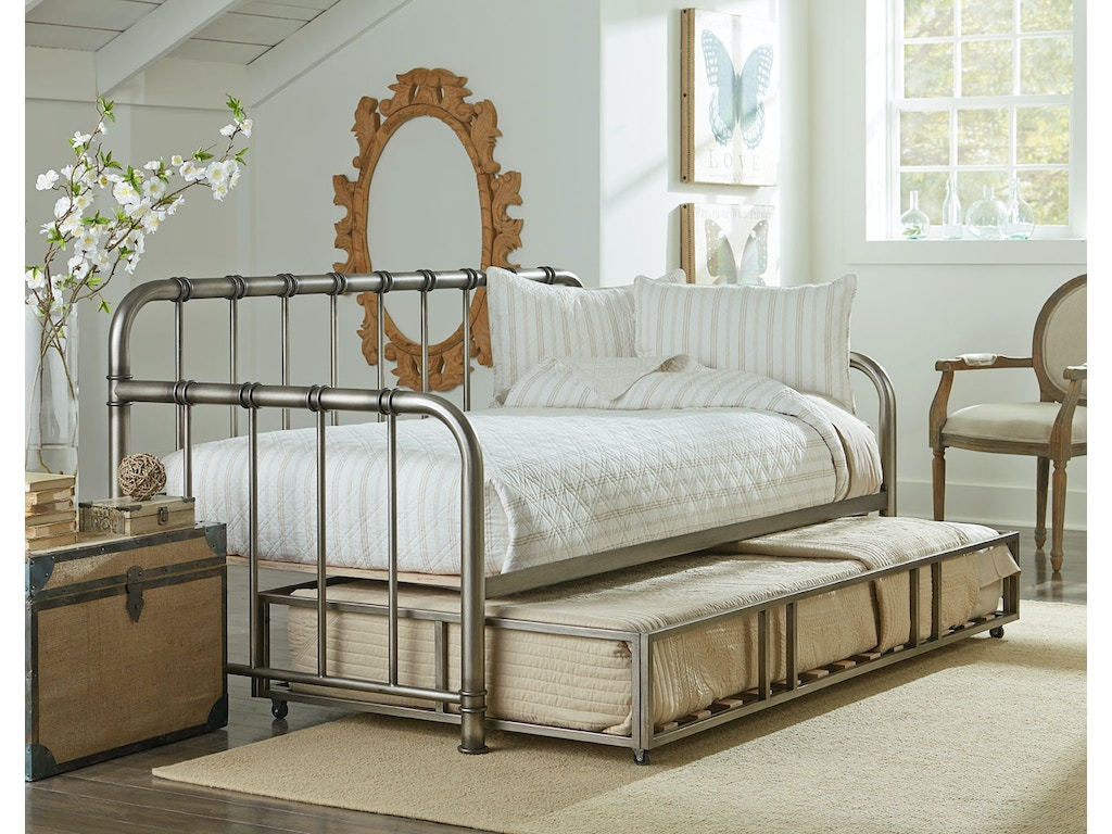 Wellington Youth Bedroom Tristen Silver Daybed With Trundle 1 Mattress Free