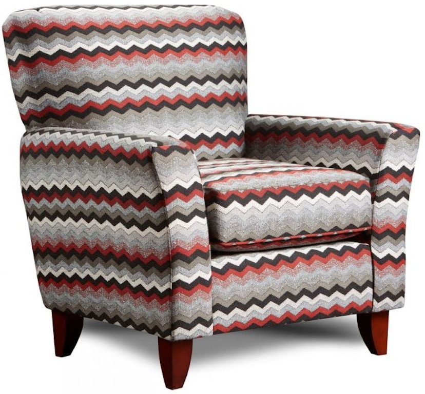 Rocky Ash Striped Accent Chair