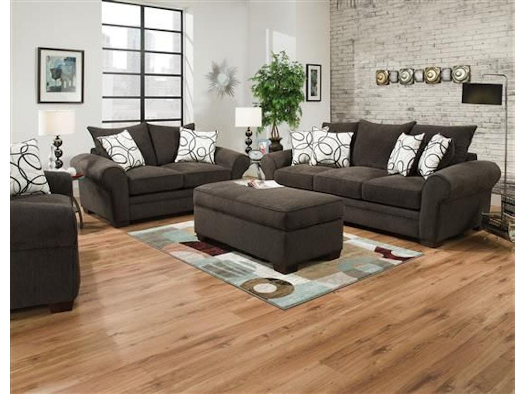 Corinthian Living Room Othello Sofa, Chair And Ottoman